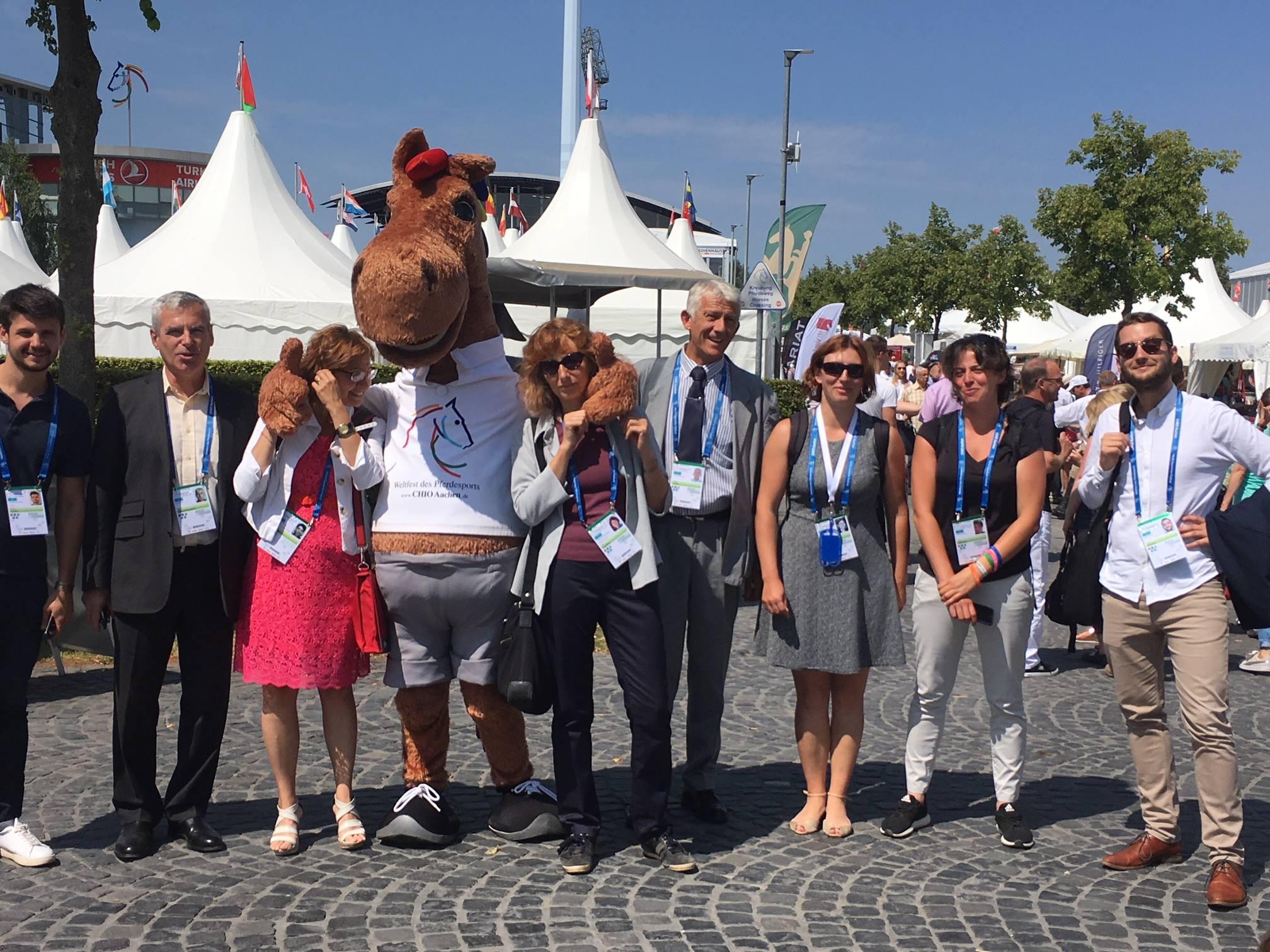 Le Pôle Hippolia et la délégation française au CHIO d'Aix-la-Chapelle