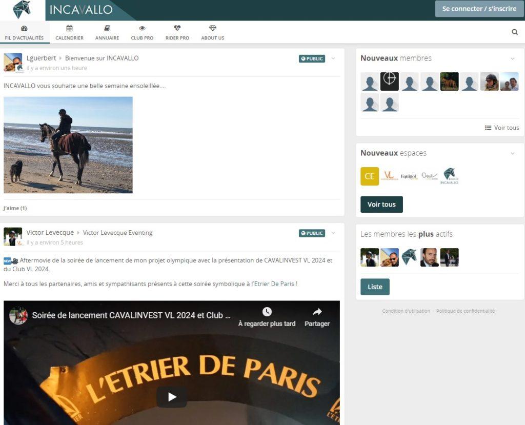 INCAVALLO, nouveau réseau social